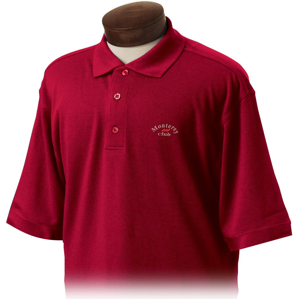monterey club mens cotton spandex short sleeve solid golf