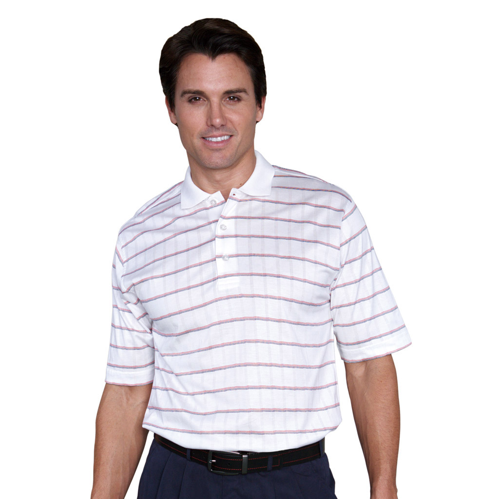 monterey club mens short sleeve pima cotton stripe plaid